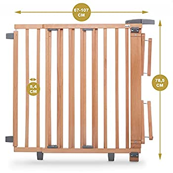 Geuther Barriere Protection Pivotante Pour Escaliers - 67-107 cm