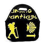 Caja de almuerzo Bento personalizada Camino De Santiago Compostela Bolsas de mano para niños niños hombres mujeres niñas