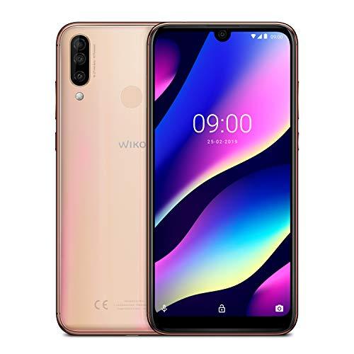 Wiko View3 Smartphone débloqué 4G (Ecran 6, 26 Pouces - 3 Go RAM - 64 Go Stockage - Double Nano-SIM - Android 9 Pie) Blush Gold