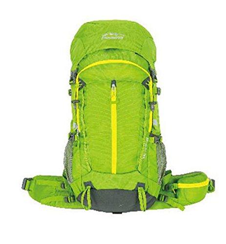 Outdoor A Sac à Dos de randonnée Professionnelle Sac d'alpinisme en Plein air de Grande capacité Sac à Dos de Voyage en Camping pour Hommes et Femmes (Couleur: Vert, Taille: 56-75L)
