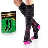BAMS Compression Socks Women & Men- Premium Bamboo Ultra Soft No-Smell 15-20...