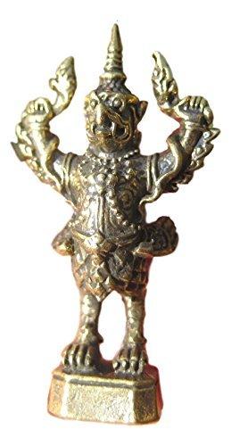 Himalayan Treasures Garuda Vogel Gott Figur Kleine Statue Schlange Beißen Amulett Thailand A22