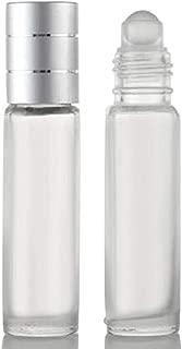 ShopXJ 高級感漂う 香水 アトマイザー ロールオン タイプ 8ml 携帯 持ち運び 詰め替え シルバー