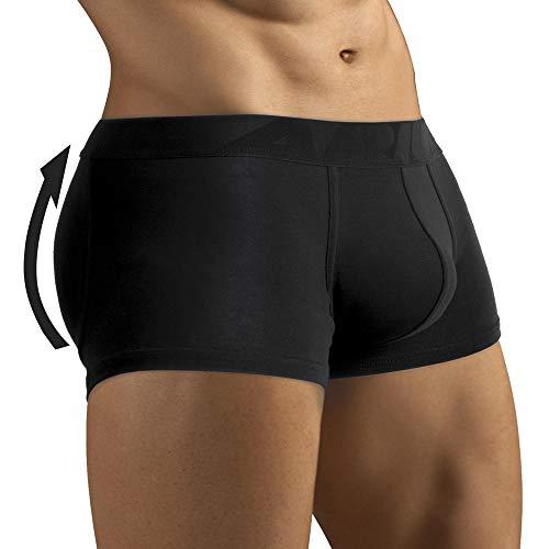 ARIUS Calzoncillo Boxer con Relleno Trasero para Aumentar el Volumen y tamaño de glúteos y Levanta - Push up y Relleno de Nalgas - Men's Padded Buttocks - Men's Shapewear (XL)
