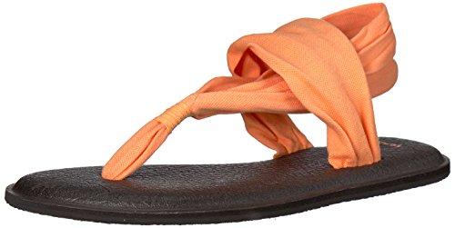 Sanuk Women's Yoga Sling 2 Solid Vintage Sandal, Papaya, 8