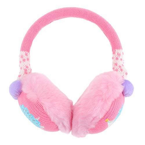 TENDYCOCO Kinder Mädchen Süße Ohrenschützer Outdoor Winter Wärmer Plüsch Ohrenschützer Ohrenwärmer Stirnband (Pink)