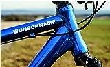Dr.Shield 2X Fahrradaufkleber Name oder Wunschtext Bike 2 Aufkleber!!! Wunschname Sticker Fahrrad Tattoo WUNSCHGRÖßE