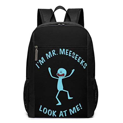 Lawenp Look at Mr Meeseeks Backpack 17 Inch Laptop Bags College School Backpack Casual Daypack for Travel