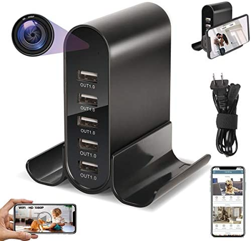 5 USB WiFi Hidden Spy Camera with Live Feed 2021 Newest Full HD 1080P Charger Spy Camera Wireless product image