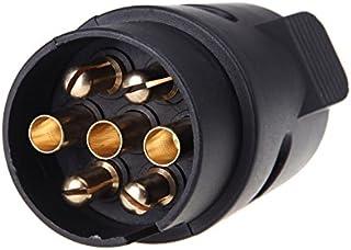 No reboque 7 pinos Plug 7-pólo fiação conector 12V engate reboque caravana caminhão Plug N tipo Trailer final plástico