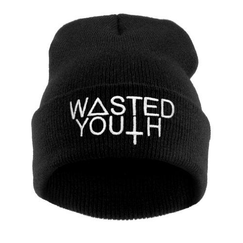 Beanie Hat Bonnet Fashion Jersay Oversize Bad Hair Day Bastard Diamond Trill Wasted