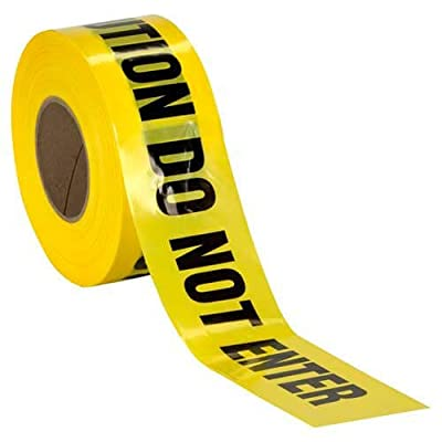 Caution Do Not Enter Barricade Tape ? High Contrast for great Readability ? Striking Yellow tape with Bold black font ? Weatherproof Resistant Design
