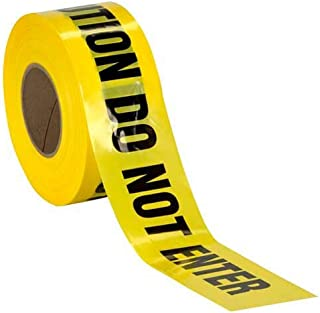 Caution Do Not Enter Barricade Tape • High Contrast for great Readability • Striking Yellow tape with Bold black font • Weatherproof Resistant Design (200 Feet)