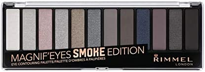 Rimmel London Magnif'Eyes 12 Pan Eyeshadow Palette, Smokey, 14g