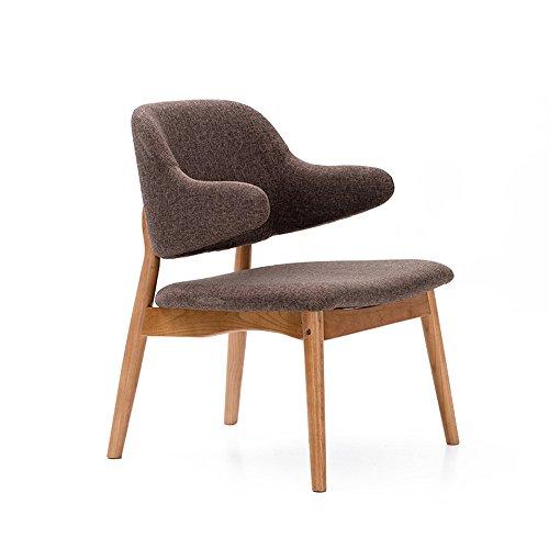 MAZHONG Tabourets Tissu Chaise Fauteuil Restaurant Salon Salon Bureau Mobilier moderne - Couleurs ( Couleur : Marron )