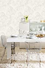 PVC Wallpaper White-silver106 cm x 15.6 m