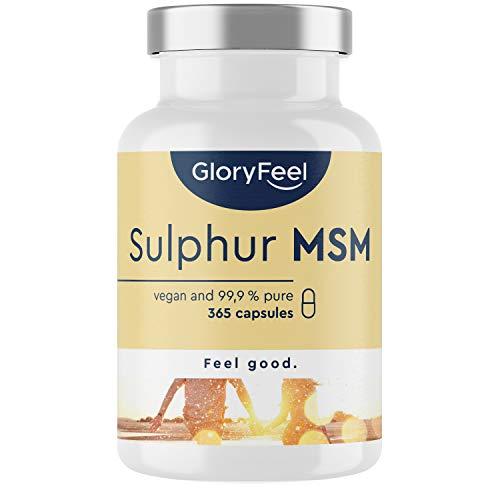 MSM Kapslar - Testvinnare 2020* - Laboratorietestat - 365 Veganska Kapslar - 1600 mg Metylsulfonylmetan (MSM) Pulver per Dag - Hög Dos utan Tillsattser