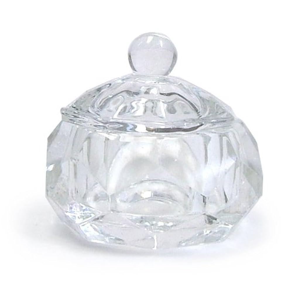 正直研磨剤パニックダッペンディッシュ フタ付き (ガラス製)