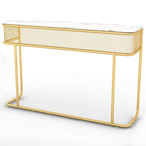 GRXXX Entrance Side Table, Marble Sofa Table Living Room Corridor Coffee Table, Computer Table Coffee Snack Console Table,S
