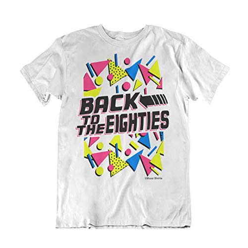 Back to the Eighties Geometric Pattern T-shirt for Men