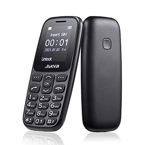 TOKVIA Teléfono móvil para personas mayores T101 con teclas grandes, que se puede utilizar mediante un botón de llamada de emergencia.