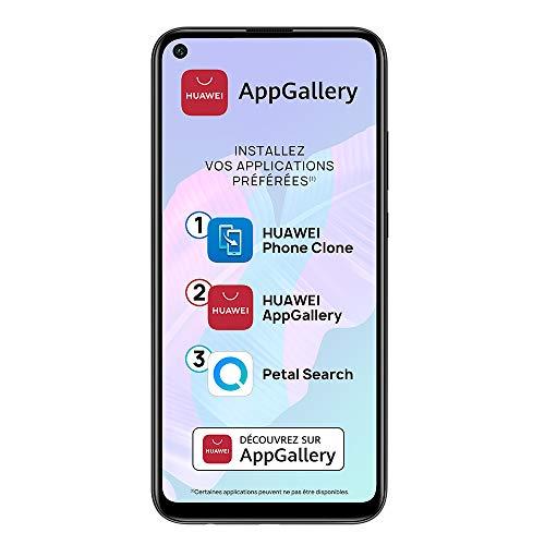 HUAWEI P40 lite E Smartphone débloqué (6.39 pouces - 4/64go - Processeur Kirin 710 - Batterie 4000mAh - Triple Caméra 48MP & AppGallery) Noir [+ bon d'achat Amazon 5 euros]