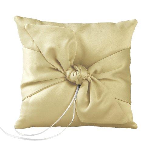 Ivy Lane Design Love Knot Ring Pillow, Lemon