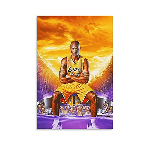 Ghychk Cuadros de baloncesto Pop Art Kobe-Bean-Bryant Los-Angeles - Impresión artística para pared (20 x 30 cm)