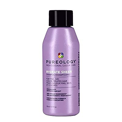 Pureology Hydrate Sheer Shampoo   For Fine, Dry, Color-Treated Hair   Lightweight Hydrating Shampoo   Silicone-Free   Vegan   Updated Packaging