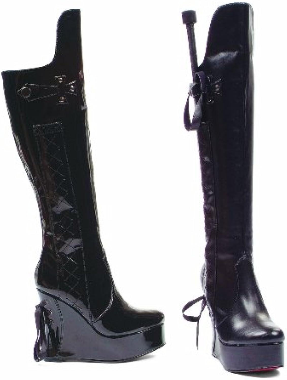Ellie shoes E-475-Sadie 4.5  Heel Knee Boot 5 Black shiny