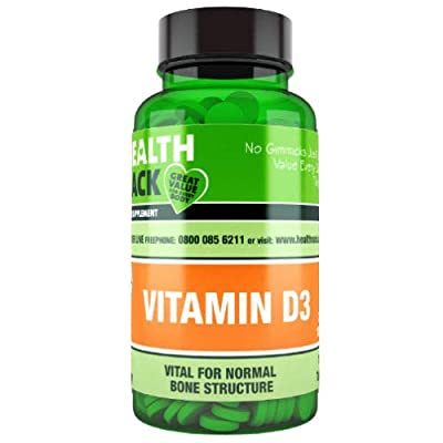 Vitamin D3 100 Tablets, NHS Recommend Daily Amount 1000IU (25μg) per Tablet, Micro Tablets Easy to Swallow
