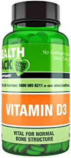 Vitamin D3 100 Tablets, NHS Recommend Daily Amount 1000IU (