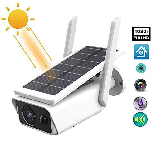 Telecamera IP WLAN 1080P HD a energia solare, impermeabile, con rilevatore di movimento PIR, visione notturna per esterni