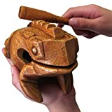 Deluxe Large 6' Wood Frog Guiro Rasp - Musical Instrument Tone Block - by World Percussion USA