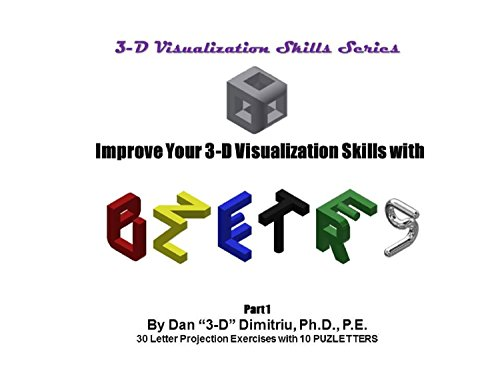 3-D Visualization with PUZZLETTERS: Letter Projection Exercises Part 1 (3-D Visualization Skills Series Book 2) (English Edition)