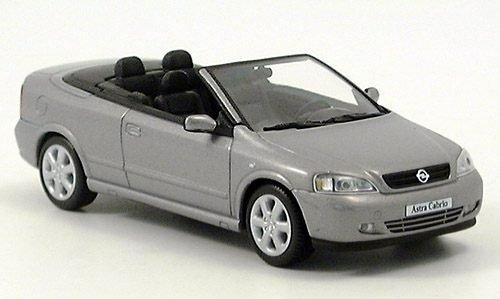 Opel Astra G Cabriolet, metallic-silber, Modellauto, Fertigmodell, I-Minichamps 1:43