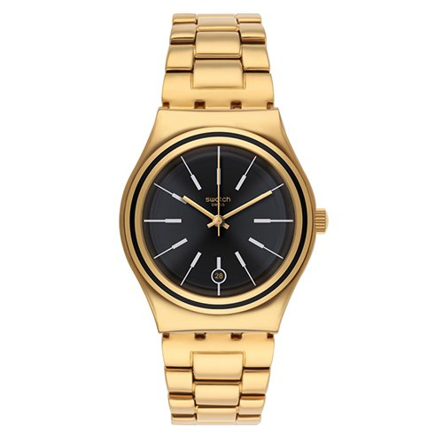 Swatch Womens Irony YLG405G Gold Stainless-Steel Quartz Watch