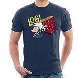 Cloud City 7 Ren and Stimpy Log Men's T-Shirt