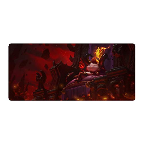 Extended Mouse pad for League of Legends,Teemo Devil,Large Gaming Mousepad,Desk Mat,Waterproof Anti-Dirty Anti Slip Stitched Edges Keyboard Mat,Perfect for Esports,90x40cm 35x16 inch