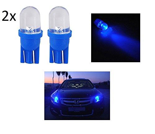 2X LUCI DI POSIZIONE LAMPADA LED BLU blue T10 lampadina auto 6000K 12V W5W luce car