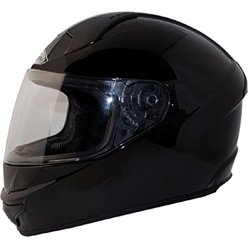 ZOX ST-11118 'Thunder 2' Glossy Black Full-Face Motorcycle Helmet - Large
