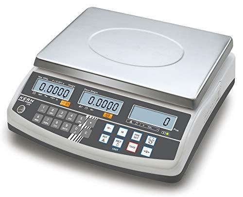 Professionelle Zählwaage mit 100 Artikelspeicherplätzen und Zweitwaagenschnittstelle [Kern CFS 30K0.5] Präzision bis 0,5 g, Wägebereich max. 30 kg