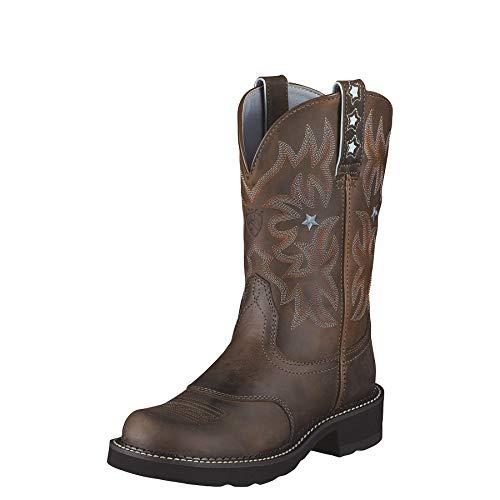 Ariat 1132 Probaby Brown Lederstiefel für Damen Braun Westernreitstiefel, Groesse:42.5 (8.5 UK)