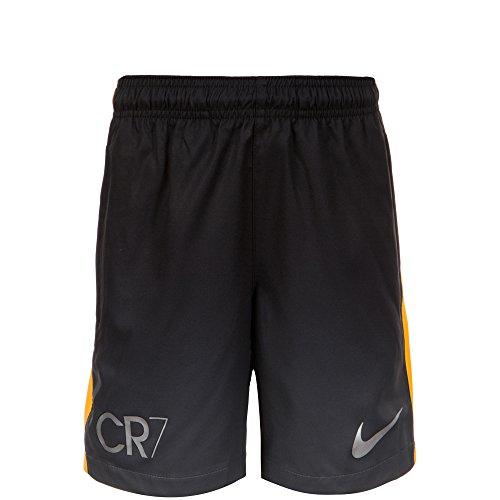 Nike CR7Cristiano Ronaldo, línea SQD GX WZ Pantalones Cortos y niños, color gris/amarillo, tamaño XL - 158-170 cm