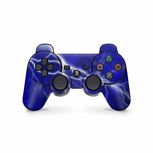 Skins4u Playstation 3 Controller Skin - Design Sticker Set für PS3 Gamepad - Apocalypse Blue