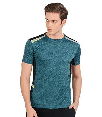 AWG Men's Stylish Polyester Sports Round Neck T-Shirt