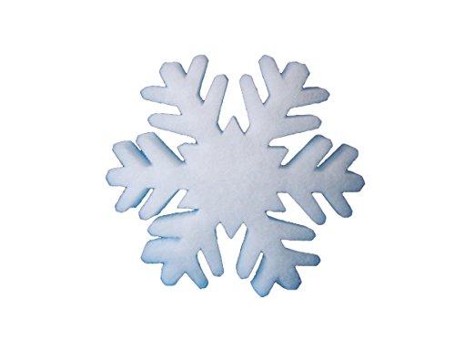 pemmiproducts Flocon de Neige du ouate en Neige,41 cm, Environ 15 mm d'épaisseur, 50 pièces(EUR 1,63/pièce), la décoration d'hiver, Neige Artificielle.