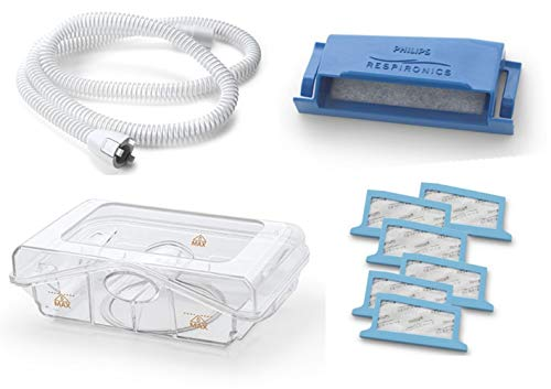 Philips Respironics Dreamstation Cpap & BIPAP Supplies Bundle - Includes Heated Tube (Qty-1)/Water Tank (Qty-1)/Reusable