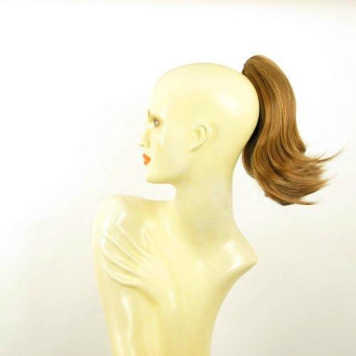 Postiche queue de cheval femme extension courte 28 cm blond foncé cuivré ref 9 en g27