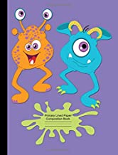 Dancing Monsters with Googly Eyes Primary Lined Paper Composition Book Grade K-3: Primary Handwriting Practice Paper, 1/2 Inch Spacing with Dashed Midline, School Classroom Exercise Notebook